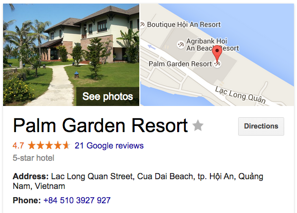 Palm Garden Resort map and details