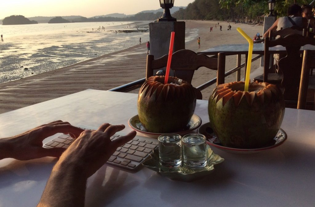 Guess Where This Coconut Workspace Is…