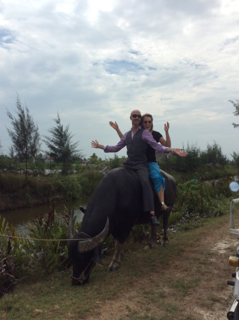 Riding Sam The Water Buffalo