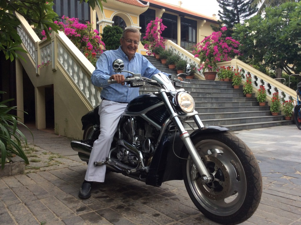 Claude On His Harley