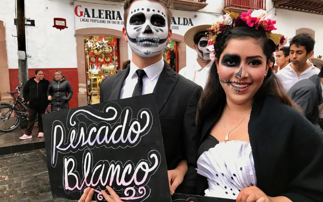 Mexico's Day Of The Dead As Evening Falls
